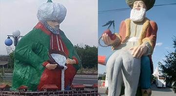 Sosyal medyada tepki çeken heykel, Başkanı da kızdırdı