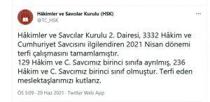3 bin 332 hakim ve savcıyı ilgilendiren terfiler belli oldu | SON TV