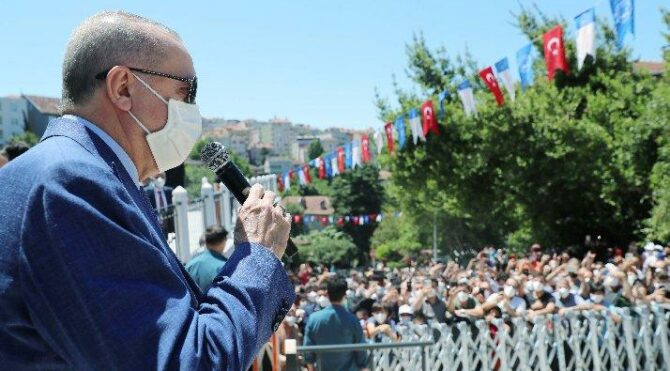 Cumhurbaşkanı Erdoğan Şehriban Hatun Camii açılışında konuştu