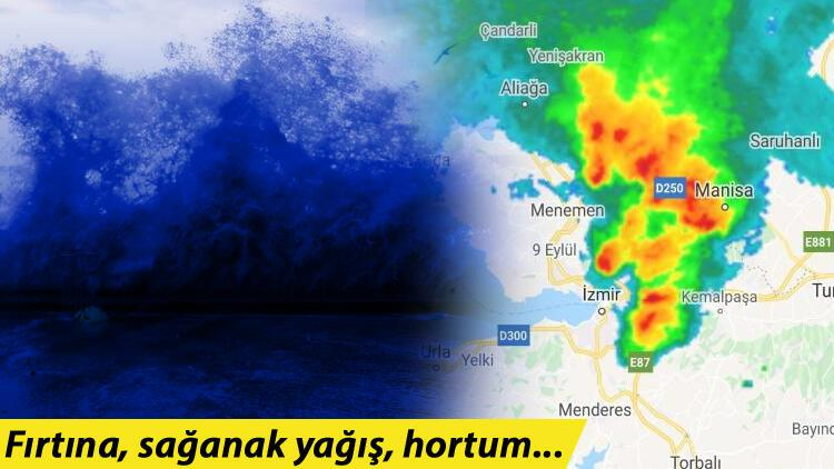 Son dakika: İzmir'de kuvvetli yağış ve fırtına! Saat 18.00'e kadar dikkat