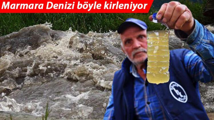 Son dakika: Marmara Denizi böyle kirleniyor! Bursa'da korkutan görüntü... Katran gibi