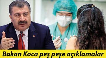 Bakan Kocadan peş peşe açıklamalar: Corona virüsü aşısında yaş sınırı 45e düştü, gelecek hafta ise 40 yaşa geçilecek
