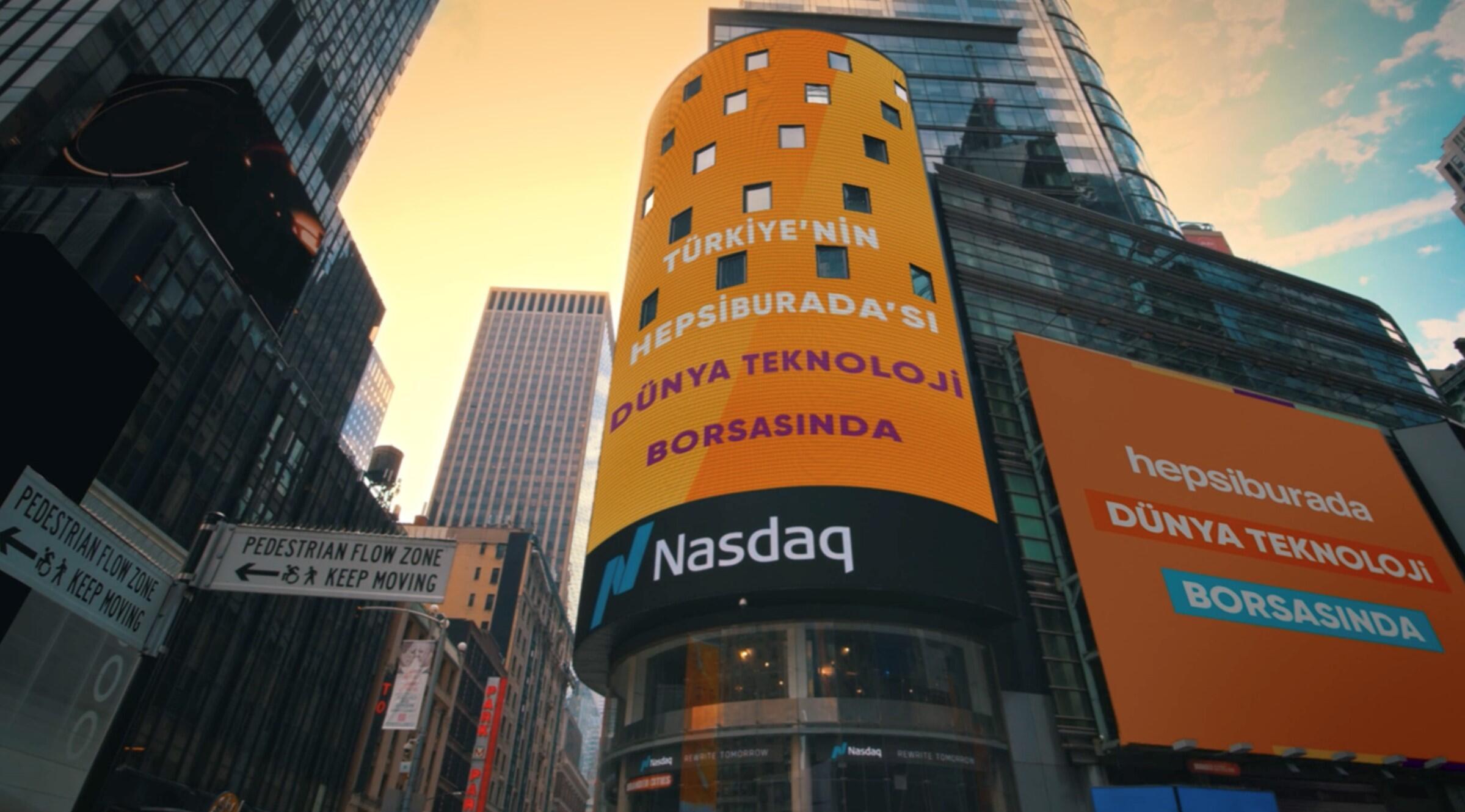 Hepsiburada, NASDAQ'ta halka arz edilen ilk Türk şirketi oldu