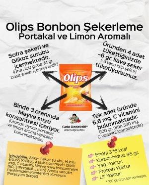 Olips Portakal ve Limon Aromalı Bonbon Şekerleme - Gıda Dedektifi