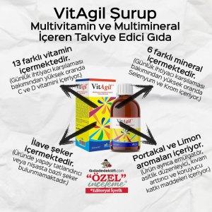 VitAgil Multivitamin ve Multimineral Şurup - Gıda Dedektifi