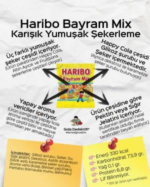 Haribo Bayram Mix Happy Cola Yumuşak Şekerleme - Gıda Dedektifi