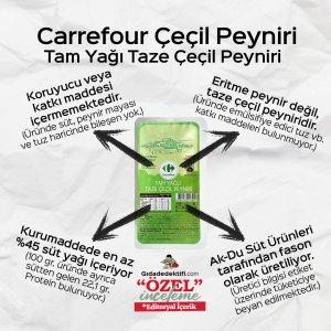 Carrefour Tam Yağlı Taze Çeçil Peyniri - Gıda Dedektifi