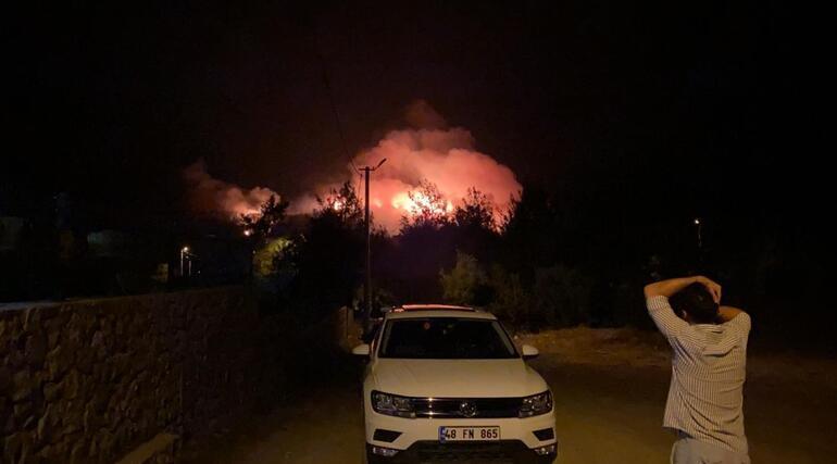 Son dakika haberi: Muğlanın Fethiye ilçesinde korkutan yangın Molotof kokteyli atıldığı iddiası