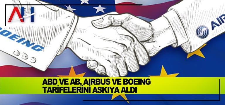 ABD ve AB, Airbus ve Boeing Tarifelerini Askıya Aldı