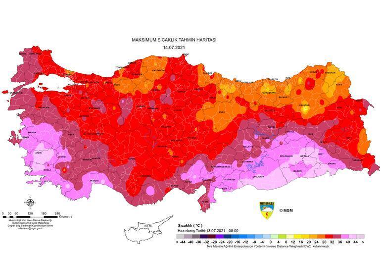 Son dakika... Meteorolojiden uyarı üstüne uyarı Hava sıcaklığı haritası yayınlandı: Kavrulacağız