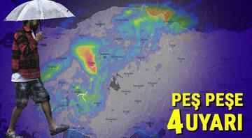 Meteorolojiden peş peşe 4 uyarı Çok sayıda il için sarı alarm