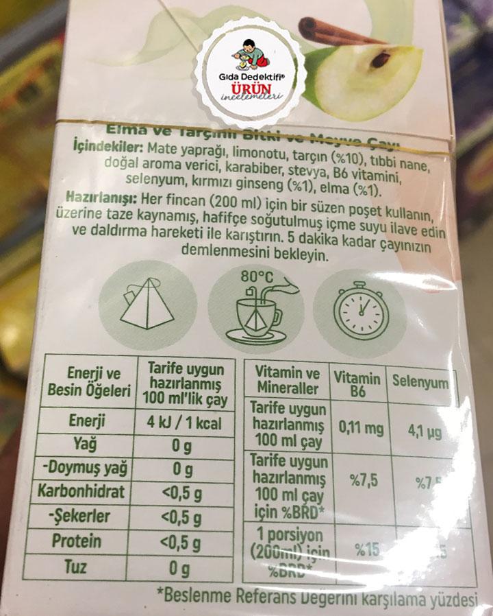Lipton B6 Vitaminli Meyve ve Bitki Çayı - Gıda Dedektifi