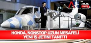 Honda, nonstop uzun mesafeli yeni iş jetini tanıttı