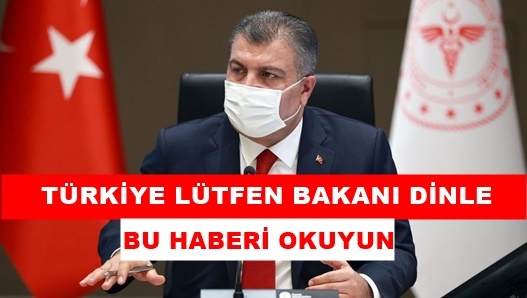 Sağlık Bakanı Koca, tek tek Anlattı!