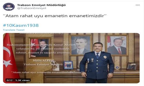 Trabzon Emniyet Müdürü Metin Alper : Emanetin Emin Ellerde Atam