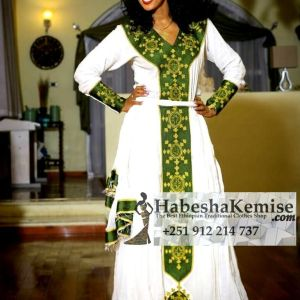 Arenguaday Gold Ethiopian Traditional Dress-42