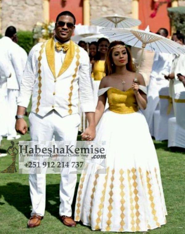 Classy Love Ethiopian Traditional Dress Wedding-20