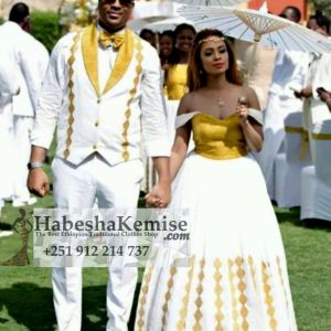 Classy Love Ethiopian Traditional Dress Wedding-20
