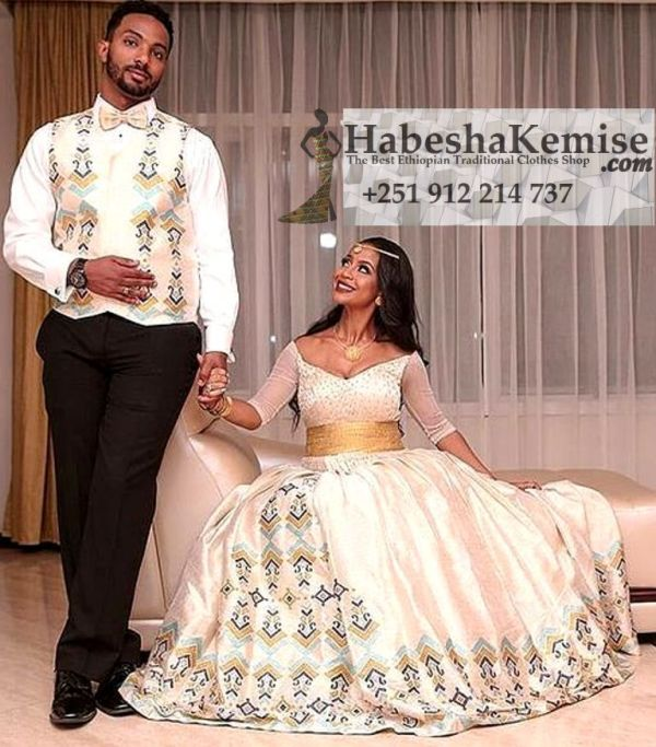 Cool Fiker Ethiopian Traditional Dress Wedding-3
