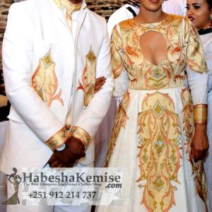 Elegance Ethiopian Traditional Dress Wedding-25