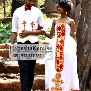 Ethio Romance Ethiopian Traditional Dress Wedding-14