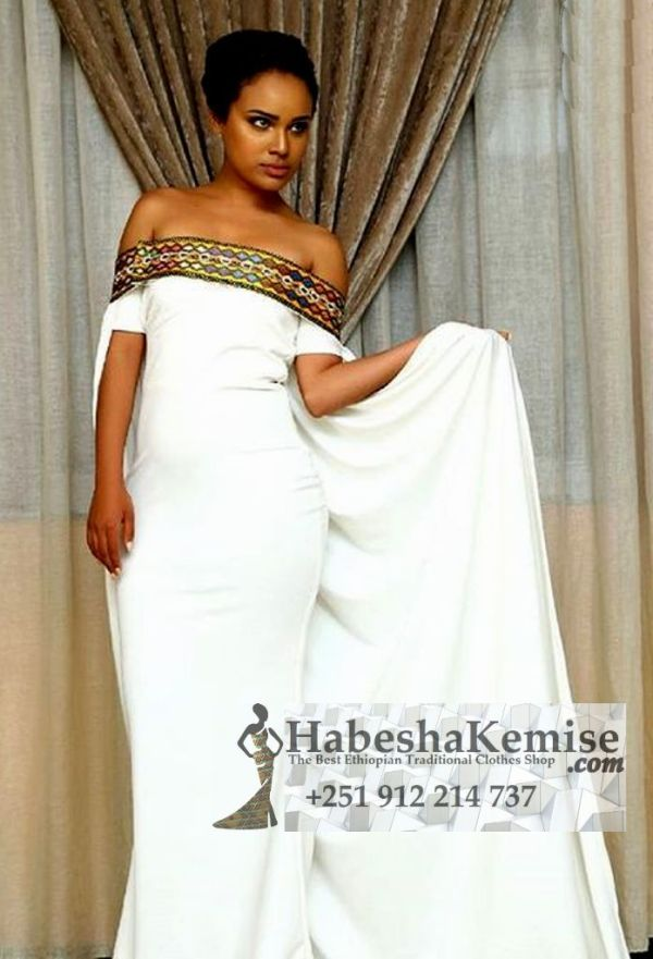 Exquisite Tewabech Ethiopian Traditional Clothes-93