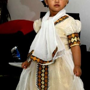 Golden Lij Ethiopian Traditional Dress Kids-7