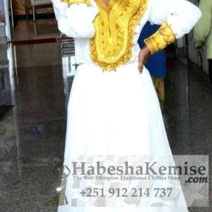 Golden Princess Ethiopian Traditional Clothes-57