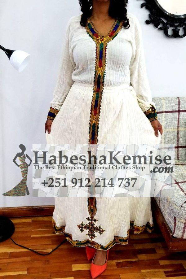 Golden Tizita Ethiopian Traditional Dress-1