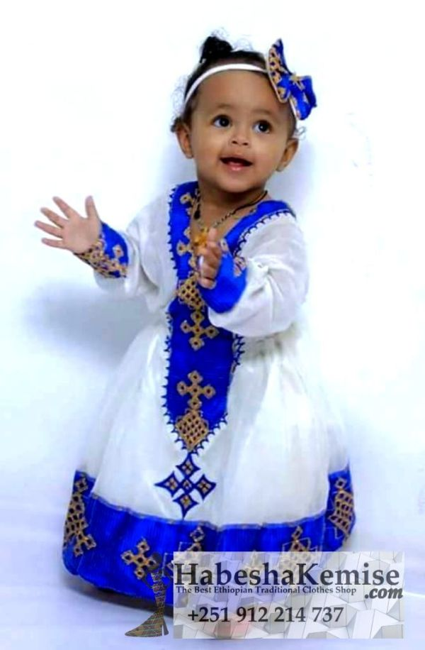 Konjo Meskel Ethiopian Traditional Dress Kids-10