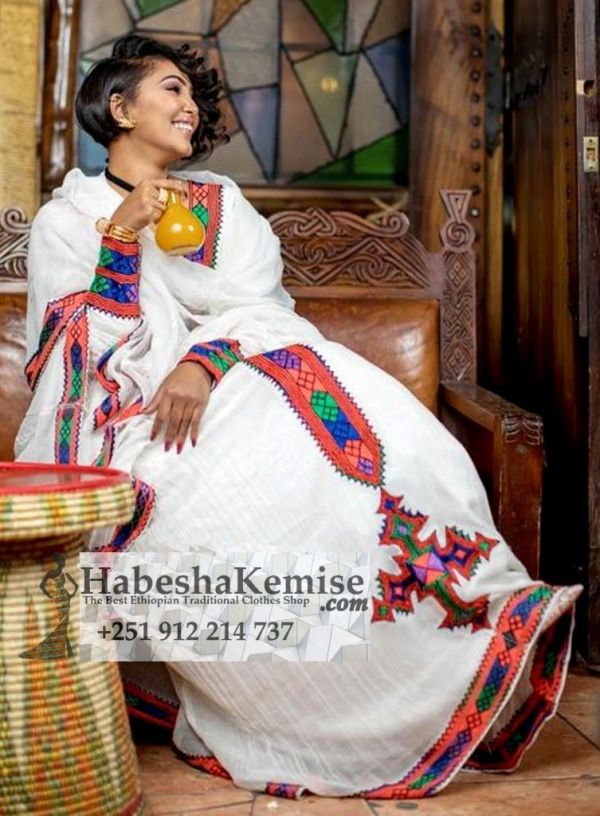 Lilys Pink Pleasure Ethiopian Traditional Clothes-48