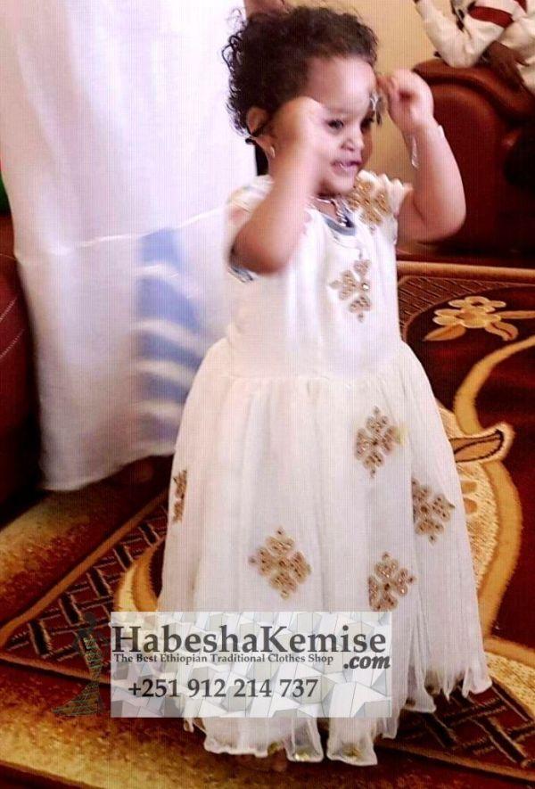 Maaza Daisy Ethiopian Traditional Dress Kids-15