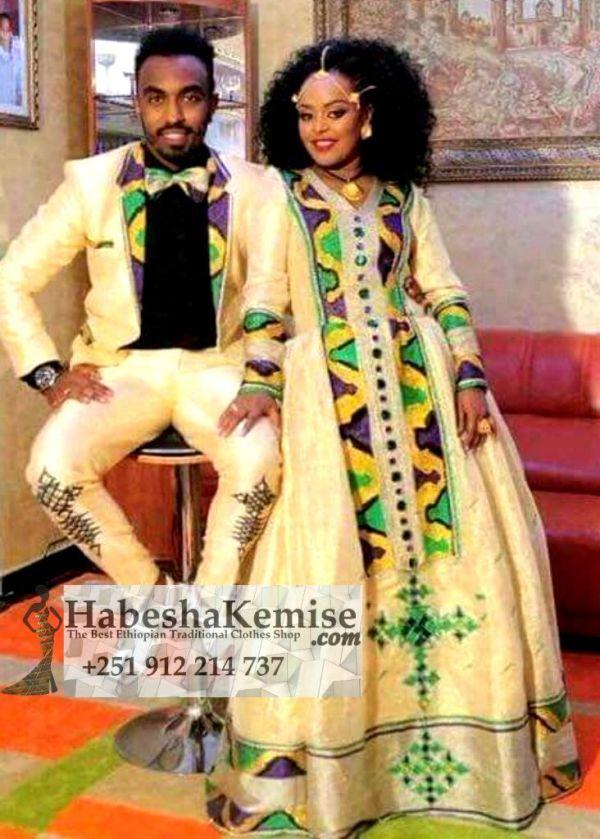 Megnote Ethiopian Traditional Dress Wedding-46