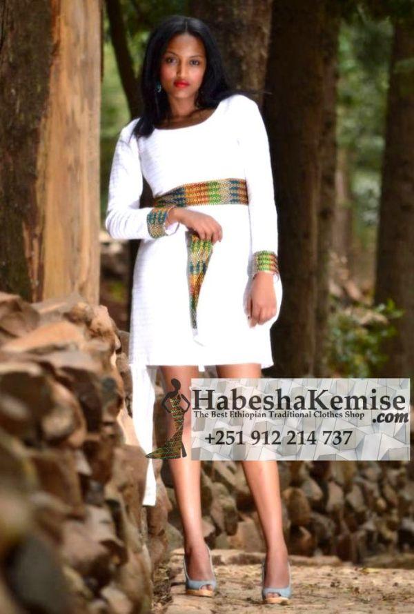 Modern Gize Ethiopian Traditional Dress-34