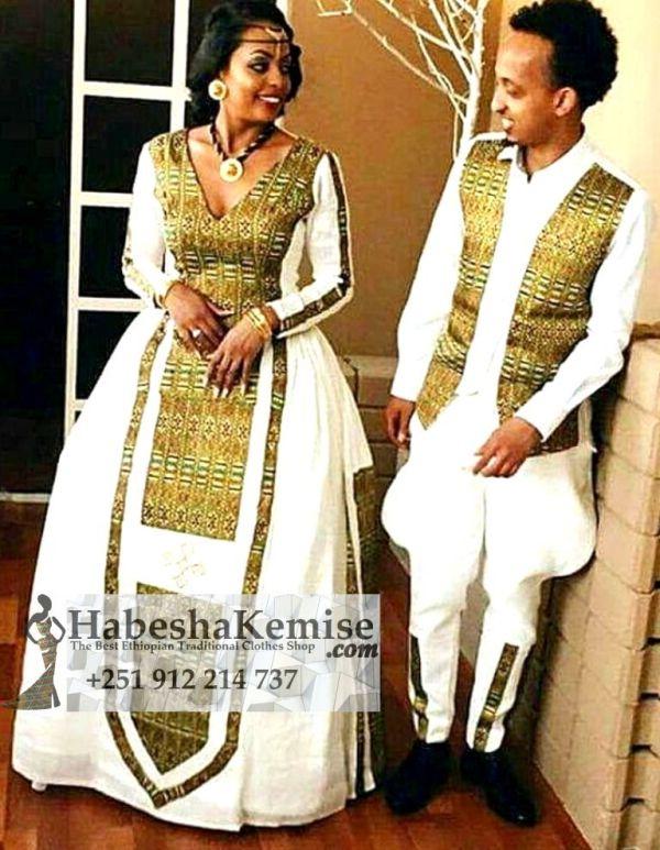 Negus Negist Ethiopian Traditional Dress Wedding-8