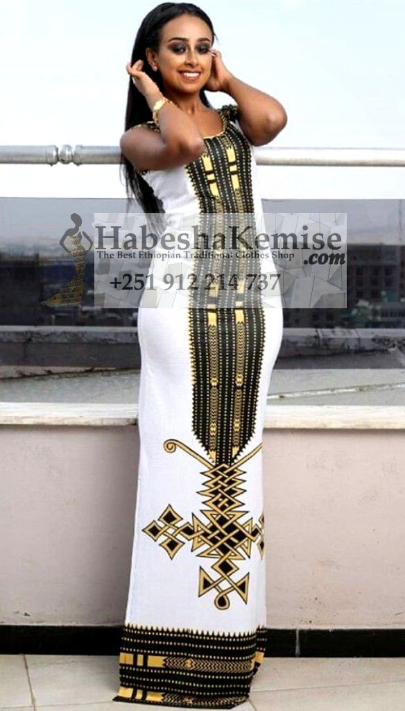 Pretty in Black Ethiopian Traditional Clothes-55