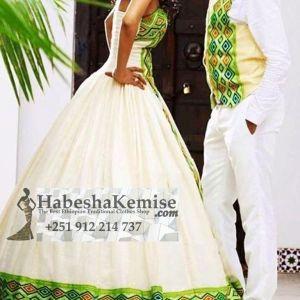 Spicy Life Ethiopian Traditional Dress Wedding-23