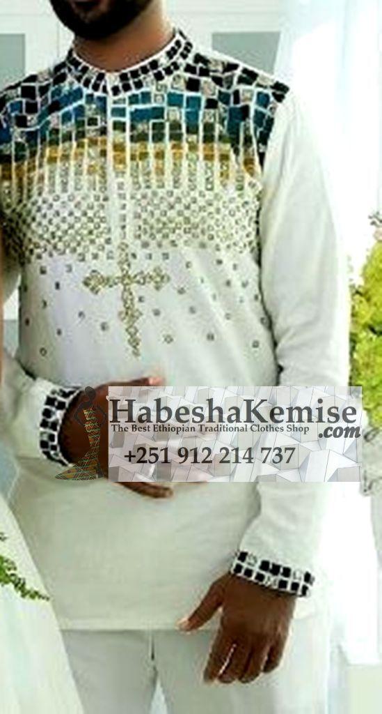 Throne Line Ethiopian Traditional Dress Mens-22