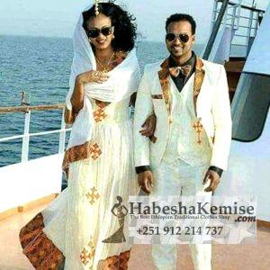 Titanic Fiker Ethiopian Traditional Dress Wedding-39