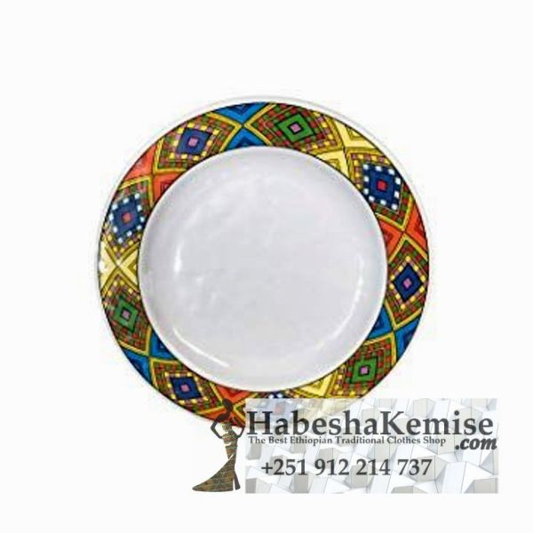 Traditional Ethiopian Tibeb Plate Household Decor-3