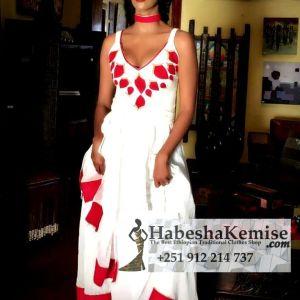 Yetekebere Dengay Ethiopian Traditional Dress-12