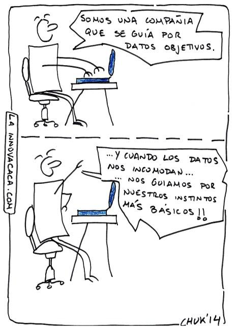 Viñeta de La Innovacaca y la objetividad de los datos por Chuck 2014