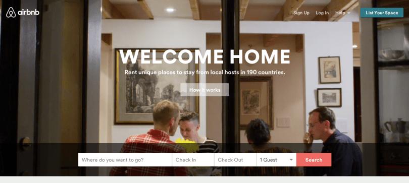 Rediseño de la Home de Airbnb