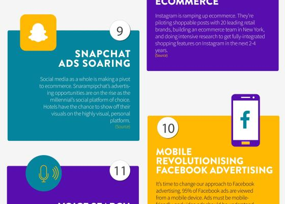 infografía 17tendencias de marketing hotelero de netaffinity