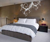 Cabecero de cama con vinilo decorativo :: Imgenes y fotos