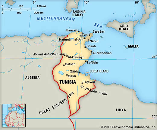 Tunisia - Habitat Worldmap : Habitat Worldmap