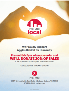 pei wei supports aggie habitat