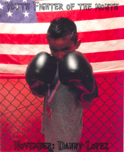 Danny Lopez Youth Fighter of the Month Bryan College Station texas