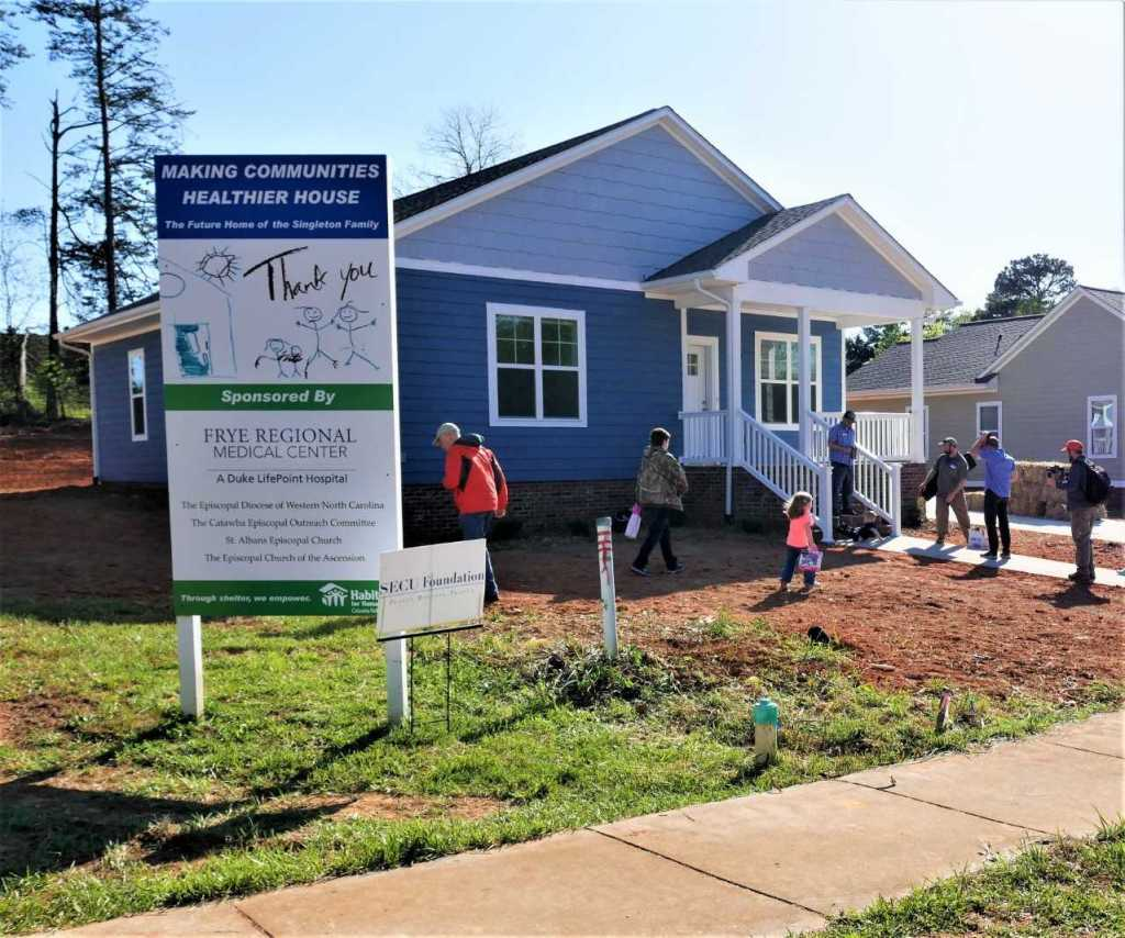 The Singleton family will move into their new home in Hickory soon. It was dedicated April 19.