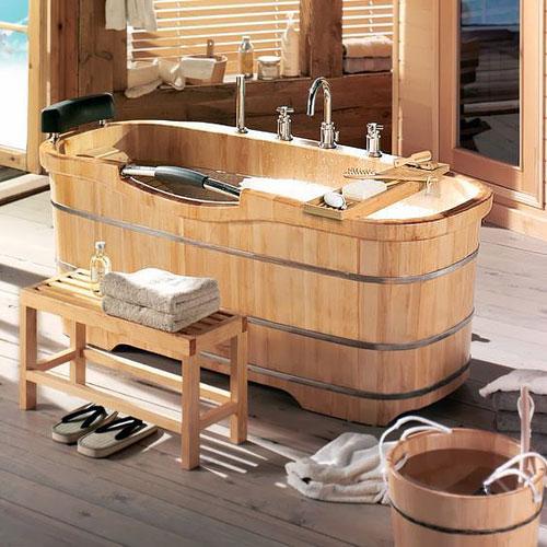 baignoire en bois 5 tendances pour